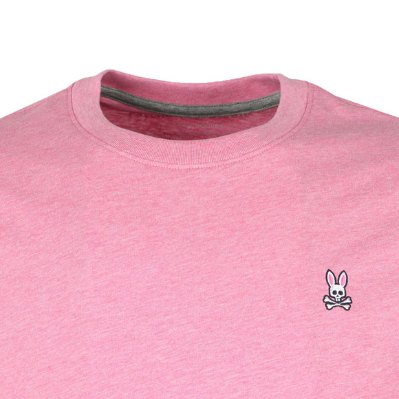 Psycho Bunny Mens Pink Classic Crew Neck T-Shirt main image