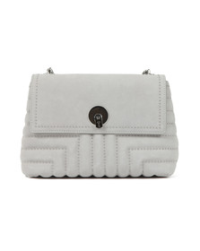 Ted Baker Womens Grey Saddiie Studded Circle Lock Xbody Bag