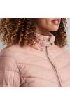 Barbour International Womens Pink Aubern Quilt Jacket