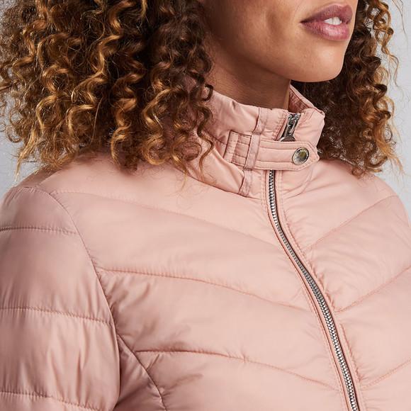 Barbour International Womens Pink Aubern Quilt Jacket main image