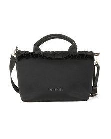 Ted Baker Womens Black Ryllee Ruffle Detail Small Tote