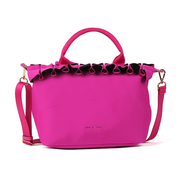 Ted Baker Womens Pink Ryllee Ruffle Detail Small Tote main image