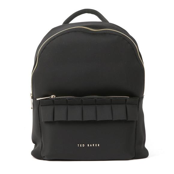 Ted Baker Womens Black Rresse Ruffle Detail Zip Backpack main image