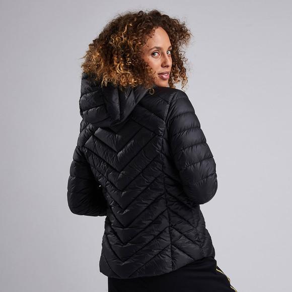 Barbour International Womens Black Durant Quilt Hooded Jacket main image