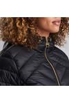 Barbour International Womens Black Durant Quilt Hooded Jacket