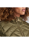 Barbour International Womens Green Durant Quilt Hooded Jacket