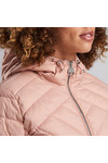 Barbour International Womens Pink Durant Quilt Hooded Jacket