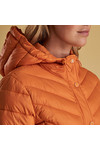 Barbour Lifestyle Womens Orange Isobath Quilted Jacket