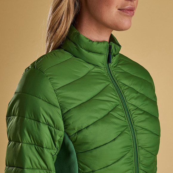 Barbour Lifestyle Womens Green Longshore Quilted Jacket main image