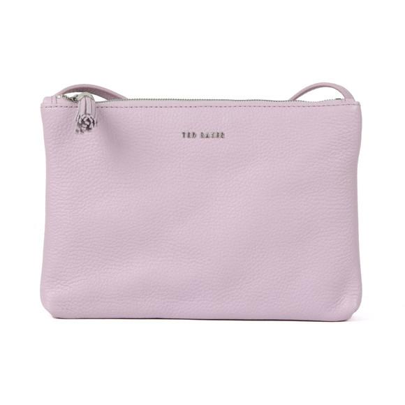 Ted Baker Womens Purple Maceyy Tassle Double Zipped XBody Bag