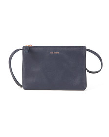 Ted Baker Womens Blue Maceyy Tassle Double Zipped XBody Bag