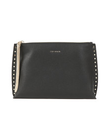 Ted Baker Womens Black Tesssa Chain Tassel Evening Bag