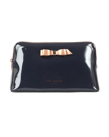 Ted Baker Womens Blue Caffara Bow Washbag