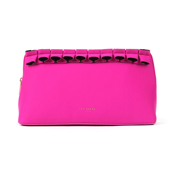 Ted Baker Womens Pink Aillie Ruffle Detail Washbag main image