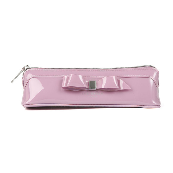 Ted Baker Womens Purple Casella Bow Pencil Case main image