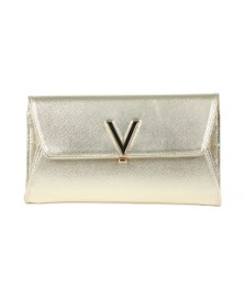 Valentino by Mario Womens Gold Flash Clutch