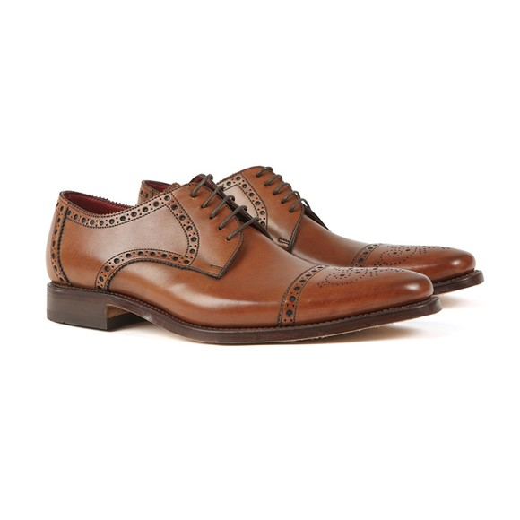 Loake Mens Multicoloured Foley CD Semi-Brogue Shoe