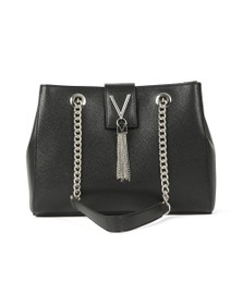 Valentino by Mario Womens Black Divina Tote