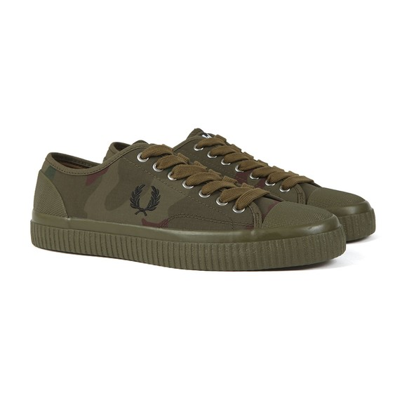 Fred Perry X Arktis Mens Green Camouflage Hughes Low Trainer main image