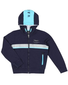 Hackett Boys Blue AMR Full Zip Hoody