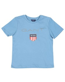 Gant Boys Blue Shield Logo T Shirt