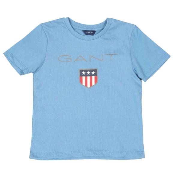 Gant Boys Blue Shield Logo T Shirt main image