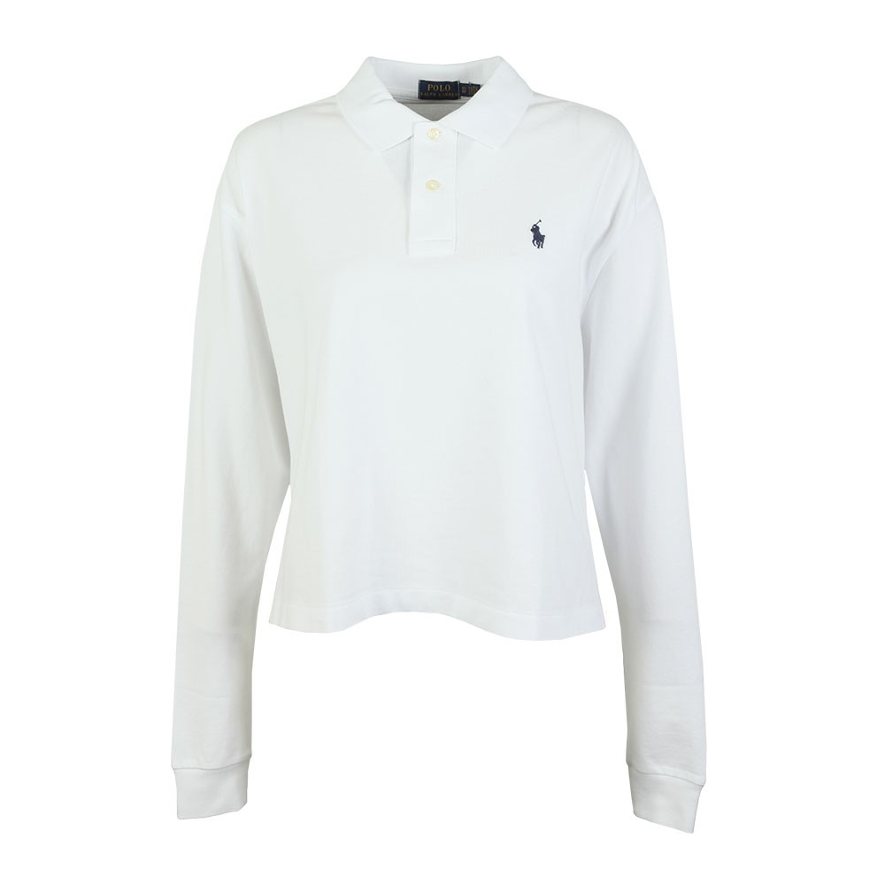 2a16a1984225 Polo Ralph Lauren Long Sleeve Cropped Polo Shirt | Oxygen Clothing