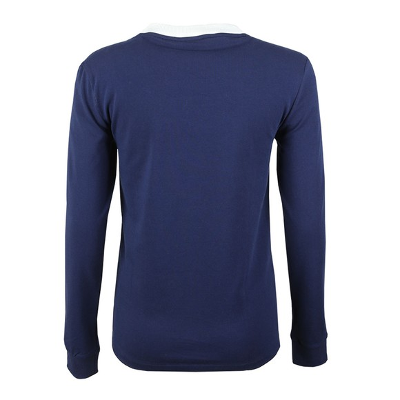 adidas Originals Womens Blue 3 Stripes Long Sleeve T Shirt main image