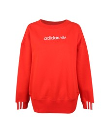 adidas Originals Womens Red Coeeze Sweat