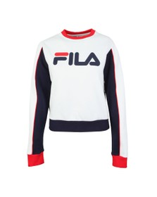 Fila Womens White Nuria Colour Block Sweat