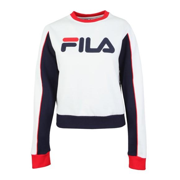 Fila Womens White Nuria Colour Block Sweat main image