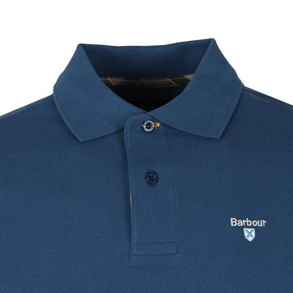 Barbour Lifestyle Mens Blue Tartan Pique Polo main image