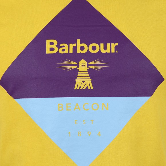 Barbour Beacon Mens Yellow Diamond Tee main image