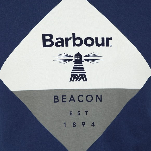 Barbour Beacon Mens Blue Diamond Tee main image