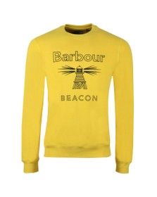 Barbour Beacon Mens Yellow Stitch Crew Sweat