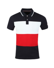 Tommy Hilfiger Mens Blue Icon Colourblock Polo