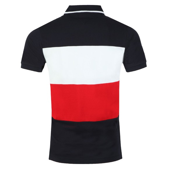 Tommy Hilfiger Mens Blue Icon Colourblock Polo main image