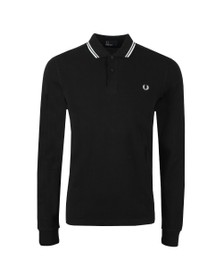 Fred Perry Mens Black L/S Tipped Polo