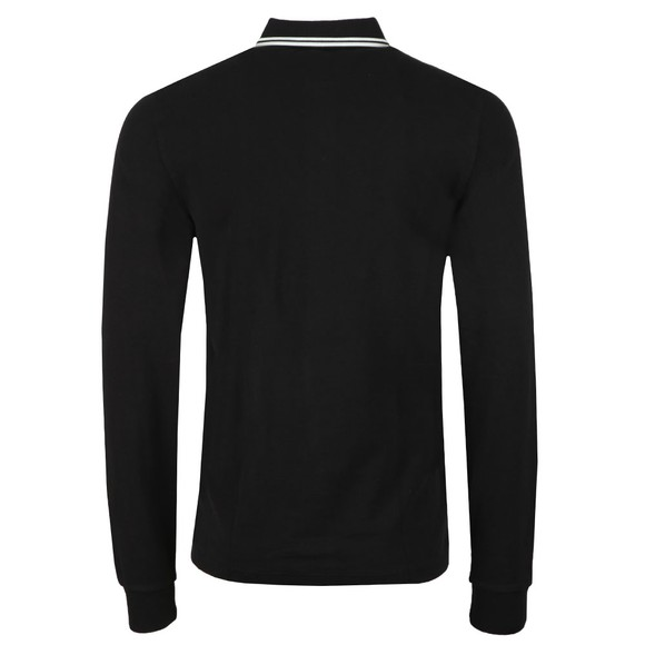 Fred Perry Mens Black L/S Tipped Polo main image