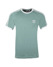 adidas Originals Mens Green 3 Stripes Tee