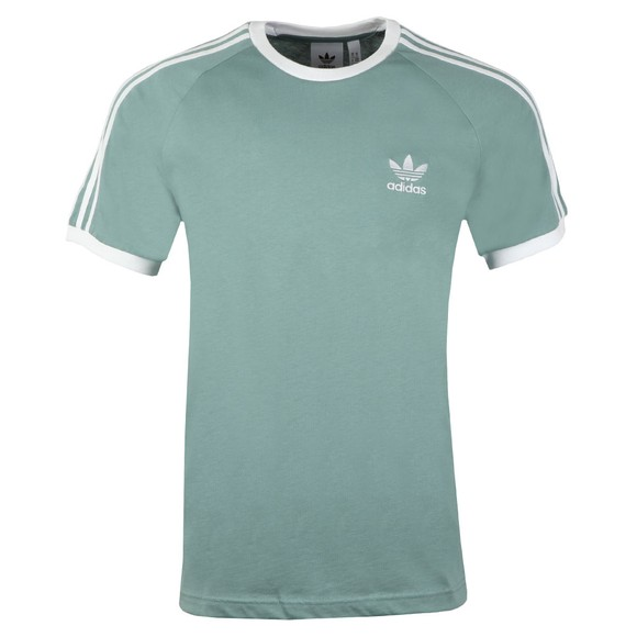 adidas Originals Mens Green 3 Stripes T-Shirt main image