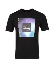 HUGO Mens Black Dunderground T Shirt