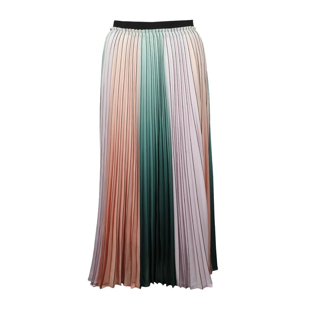 Selmma Pleated Stripe Midi Skirt main image