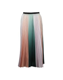 Ted Baker Womens Purple Selmma Pleated Stripe Midi Skirt