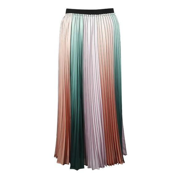 Ted Baker Womens Purple Selmma Pleated Stripe Midi Skirt main image