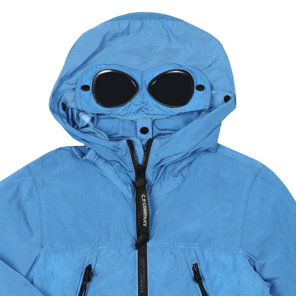 C.P. Company Undersixteen Boys Blue Chrome Goggle Jacket main image