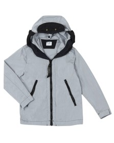 C.P. Company Undersixteen Boys Grey Chrome Split Goggle Jacket