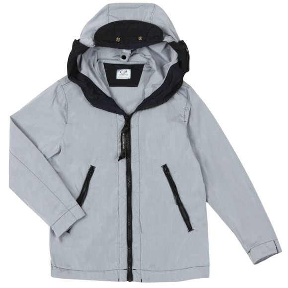 C.P. Company Undersixteen Boys Grey Chrome Split Goggle Jacket main image