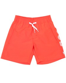 BOSS Boys Orange Boys Logo Swim Short