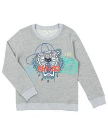 Kenzo Kids Boys Grey Street Tiger Sweatshirt